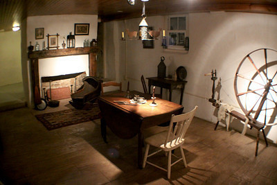 The basement contains the original homestead of Samuel Schwakhamer built in 1732.