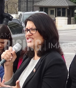 Rashida Tlaib Speaking At Defund ICE Press Conference On Capitol Hill In Washington, DC