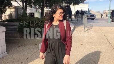 Rashida Tlaib on Capitol Sidewalk