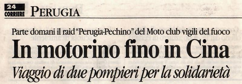 Corriere dell'Umbria<br /> PARTENZA