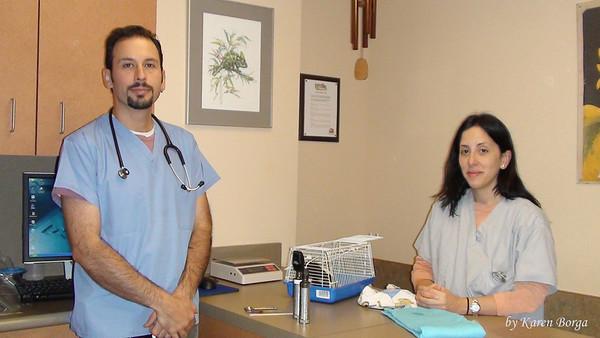 Dr. Anthony Pilny and Technician, Jennifer Padro