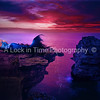 Colourful sunrise at Lonely stone Tyulenovo village, Bulgaria