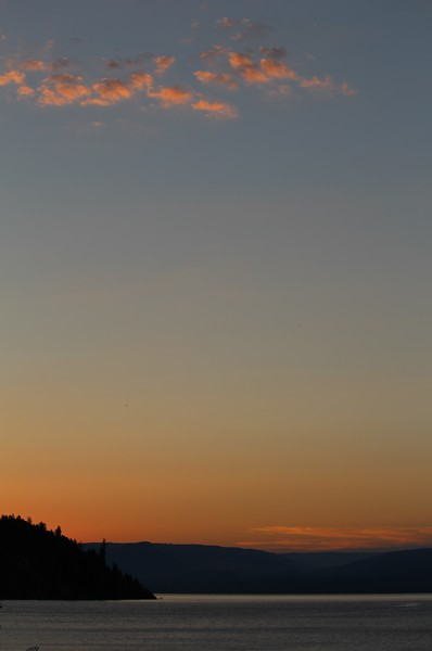 5am Sunrise in front of Jackson's Cove,, morning of Rattlesnake Island Swim, Aug 6 '16.