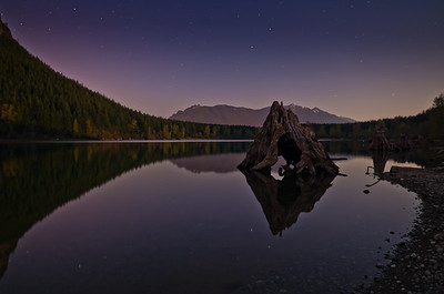 Moonlit Rattlesnake Lake, WA