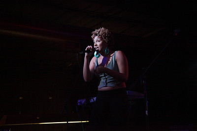 """Miss Eaves at the first Annual """"FEED Fest for Keep A Breast"""" at the Rock Shop on Friday, October 21st, 2011."""