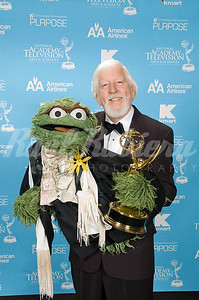Caroll Spinney of Sesame Street  on  PBS, winner for Outstanding Performer In A Children's Series at the 34th Annual Daytime Entertainment Emmy Awards