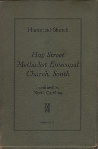 Historical Sketch of Hay Street Methodist