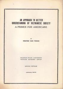 An Approach to Better Understanding of Vietnamese Society