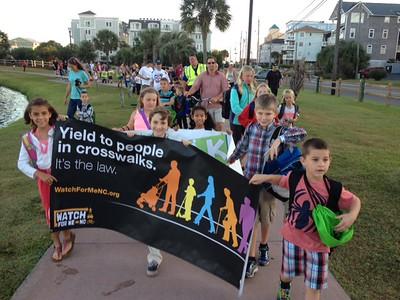 Carolina Beach Elementary New Hanover County 2014 Walk to School Day