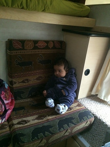 Ravi in the camper.
