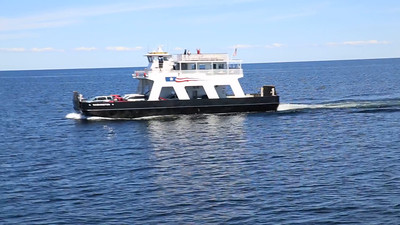 Car Ferry Passes Us Going to Washington Island Wisconsin