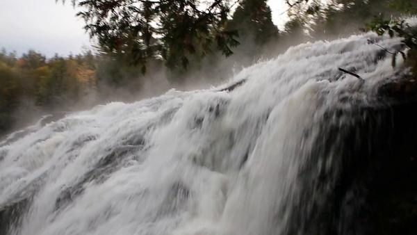 Bond Falls Looking Over Large Drop (Lower Falls)