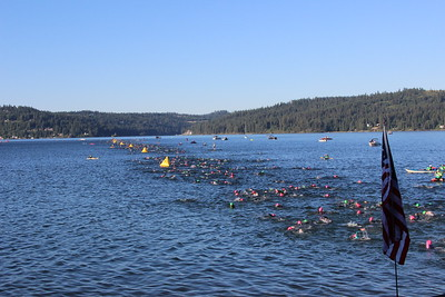 The simmers almost done with their swim. Ray is somewhere in this line of swimmers