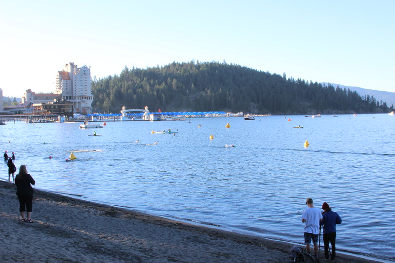 The beginning of the swim course.  These were the pros just staring the swim