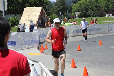 Ray starting his run.  It was a very hot day at this time it was 93 degrees.