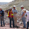 Wolfgang (center) talking to two ASARCO miners in the native copper area.
