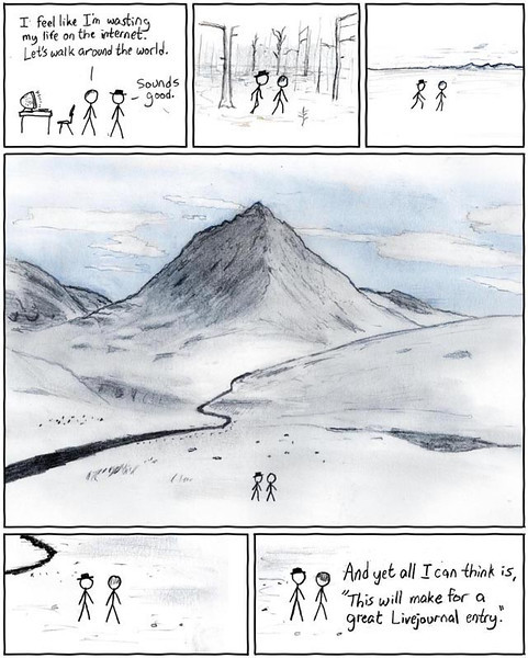 """The comics from XKCD.com<br /> """"Bored with the Internet"""""""