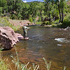 My dad begins the first afternoon fishing on the Frying Pan a few miles up from Basalt.