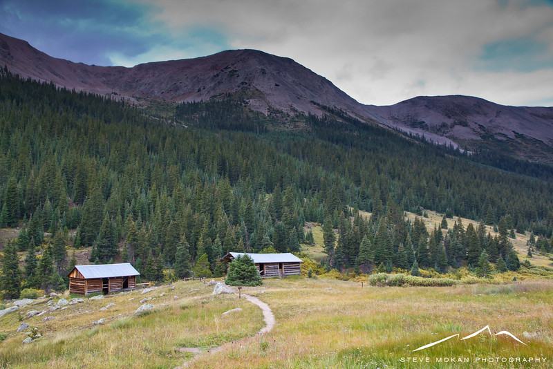 """The aforementioned Independence ghost town, with a couple of the """"residential"""" cabins."""