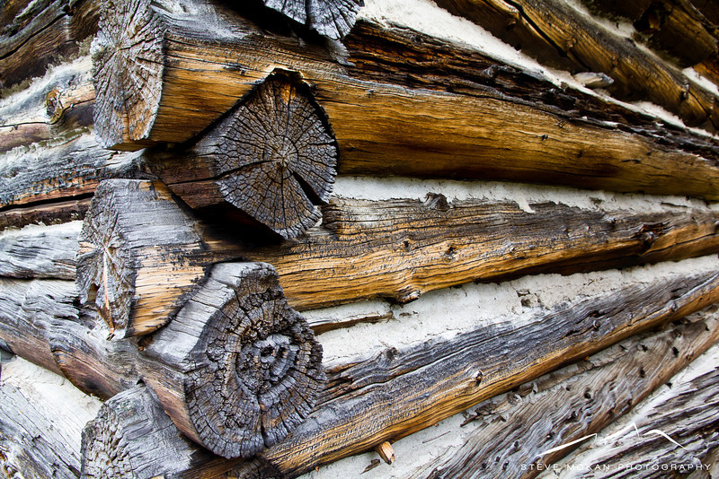 Close-up of the building materials in the Independence cabins.  The wood was in incredible condition.