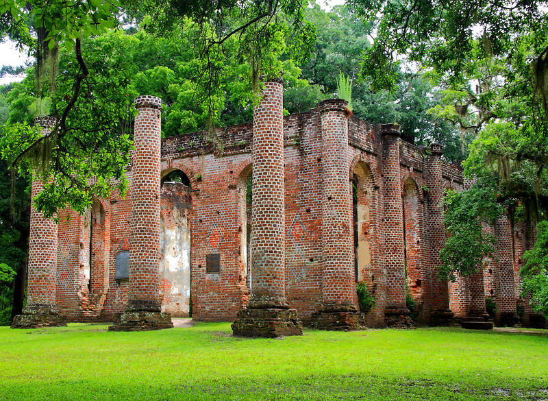 The Old Sheldon Church in Yemassee, South Carolina.  This is something that everyone should see if they're in the area- absolutely beautiful and full of history.