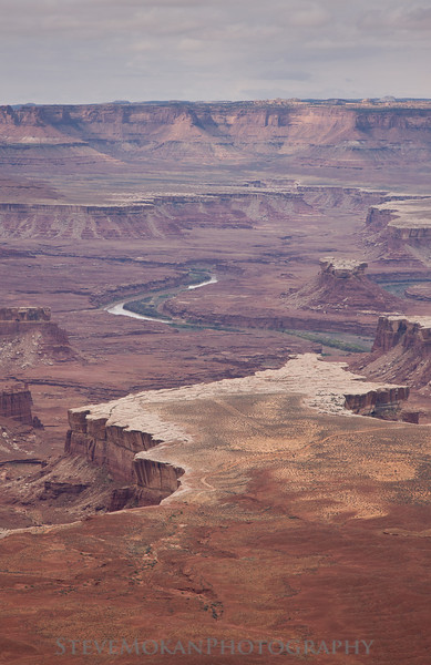 Another view of the Green River.  Look closely and you can see the White Rim Trail, a 4x4 trail that's popular with off-roaders and mountain biking.
