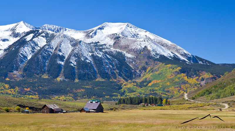 An old barn on the Brush Creek Road on the southeast side of Mt. Crested Butte.
