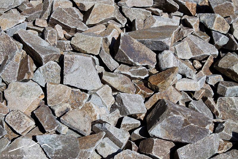 """Several sections of the """"trail"""" looked like this: crushed slate."""