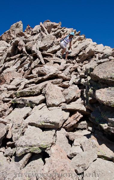 The final 200-300 feet of climbing got a little sketchy, but Sarah braved through it.