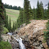 One of the many waterfalls on the hike to Crystal.  This one was closer to the top of Schofield Pass.