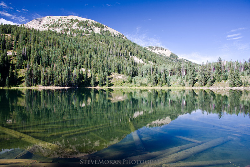 The water at Lost Lake was crystal clear- you can see the old trees under the water, victims of past avalanches.