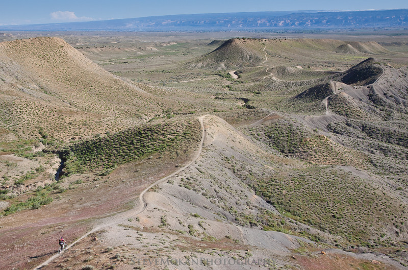 The view from above, looking down on the smooth singletrack and fun sections of Zippity.