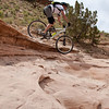 One of the many fun sections of rock on the Western Rim trail.