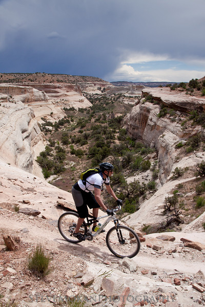 One of the many scenic canyon overlooks on Western Rim- this one was awesome with the storm to the south.