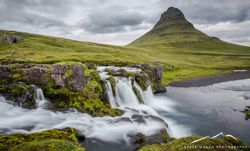 Later that night (at about 10:00pm to be specific) and despite the rain, I decided to drive 30 minutes to the town of Grundafjordur to photograph the magical Kirkjufell Mountain.  This is an iconic location in Iceland and is supposedly the most photographed mountain in the country.