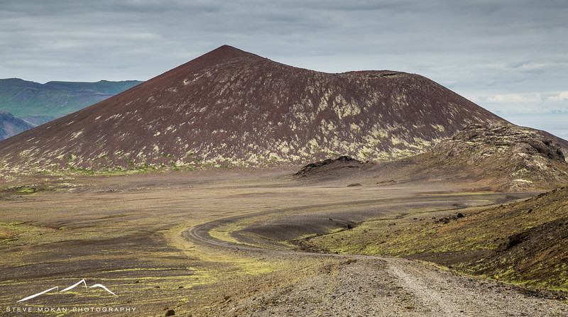 Everywhere you look there are colorful mountains in Iceland, and before we got too far we decided to head up an unmarked dirt road to explore.