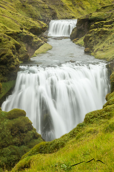"""As you climb, the waterfalls become more diverse and the """"crowds"""" thin.  This was a double waterfall along the trail."""