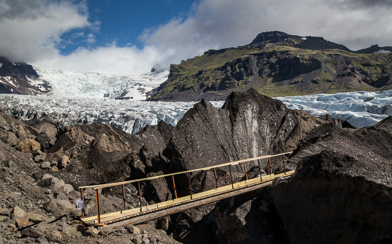 The guides had put this bridge up the day before our hike.