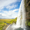 Another great shot of the waterfall.  Seljalandsfoss is famous because you can actually walk behind the waterfall...