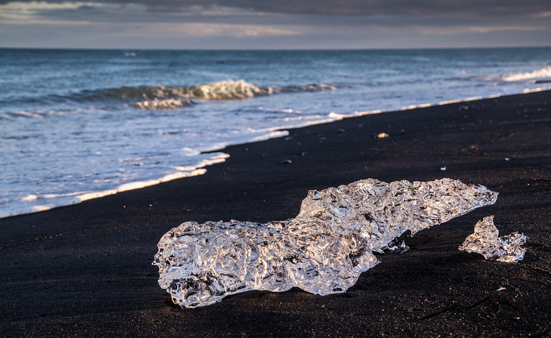 Another beautiful iceberg on the black sand beach.  We had great light at sunset too (around 9:30pm).