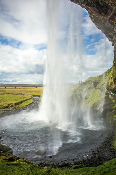 ... and this shot proves it.  This was taken from behind the falls, looking out to sea.  If anyone reads this and goes to Iceland sometime soon, make sure you get the carrot cake from the tiny stand next to the waterfall; best thing we ate in Iceland!