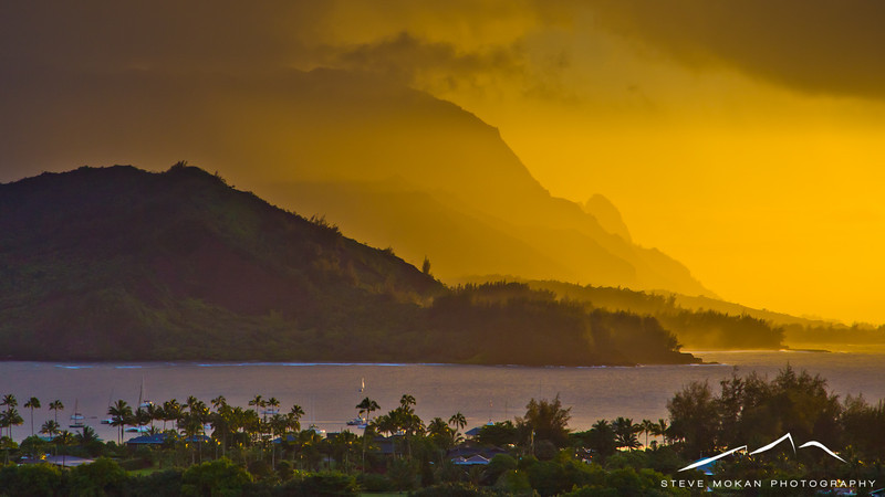 Sunset from another one of the Hanalei view points.