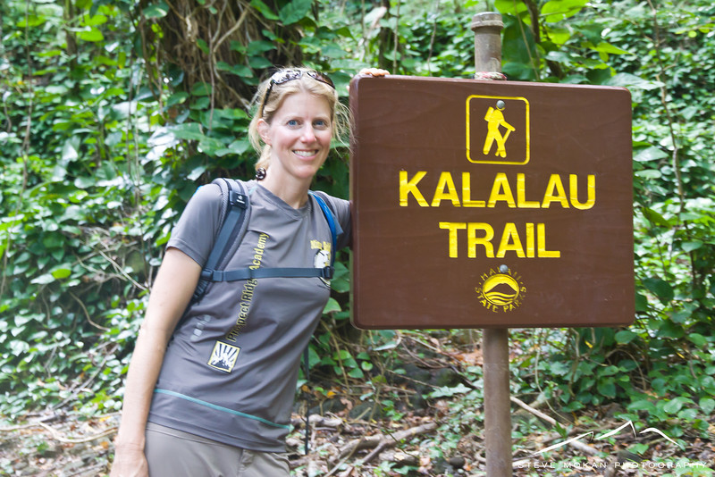 The world-famous Kalalau Trail.  11 miles each way along the amazing Napali Coast.  We planned to hike to the waterfalls (four miles each way), but with the rain we only ended up going to Hanakapaia Beach.
