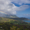 Later that morning.... another rainbow leads to Hanalei Bay.