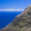 A section of the Kalalau Ridge sticks out in front of our view of the Pacific.
