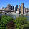 The view from Patrick's apartment on Roosevelt Island, looking across the East River towards Manhattan.