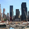 The site of the World Trade Center.  To the left is the beginning of the new building that will be erected soon- and the rest will be a park and a memorial to the victims of 9/11.