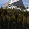 Hallett Peak from Bear Lake, far below the other lakes.