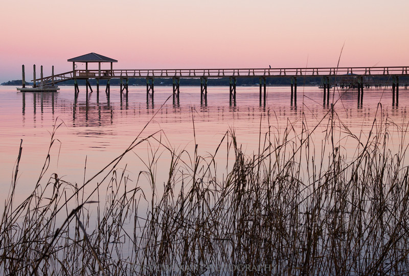 One of the most beautiful and calming sunsets I've seen, this dock was near Papa's Island in Beaufort.