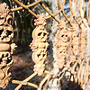 An old wrought iron fence near the Chapel of Ease.... pineapples or skeletons?